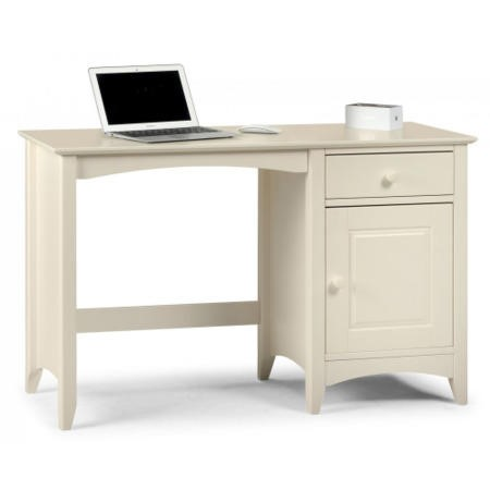 Julian Bowen Cameo Office Desk in Stone White