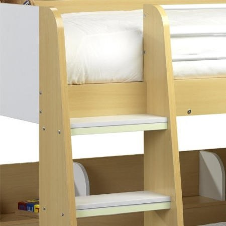 Julian Bowen Domino Bunk Beds In Maple And White