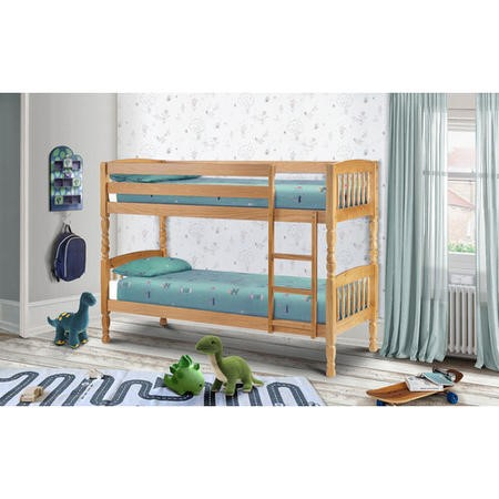 Julian Bowen Lincoln Solid Pine Bunk Bed - Single