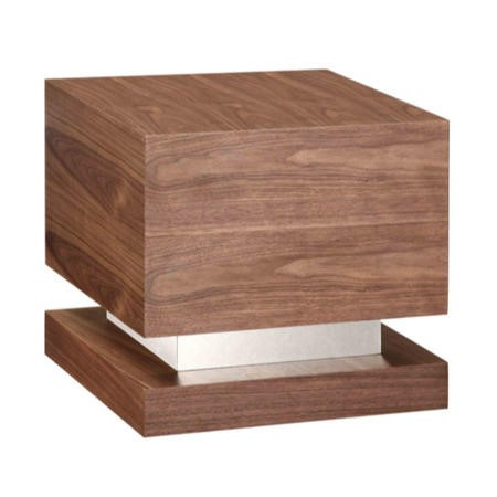 Attractive Jual Furnishings Cube Lamp Table In Walnut