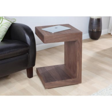 Jual Furnishings Cube Utility Table in Walnut with Drawer