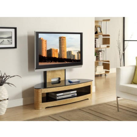 Jual Furnishings Curved Oak Cantilever TV Unit