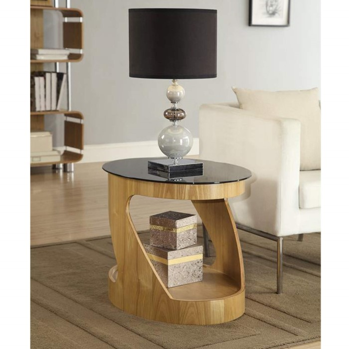 Jual furnishings curve oval lamp table in oak and black glass jual furnishings curve oval lamp table in oak and black glass mozeypictures Choice Image