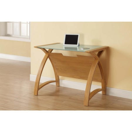 Jual furnishings curve medium laptop desk in oak with for Furniture 123