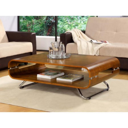 Jual Furnishings Curve Coffee Table in Walnut