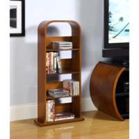 Jual Furnishings Curved Bookcase in Walnut & CD and DVD storage: cd storage dvd storage cd and/or dvd storage ...
