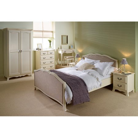 LPD Chantilly Bed Frame in Antique White - double