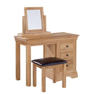 LPD Worthing White Oak Dressing Table with 3 Drawers
