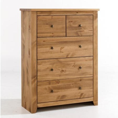 LPD Havana Pine 3+2 Drawer Chest of Drawers