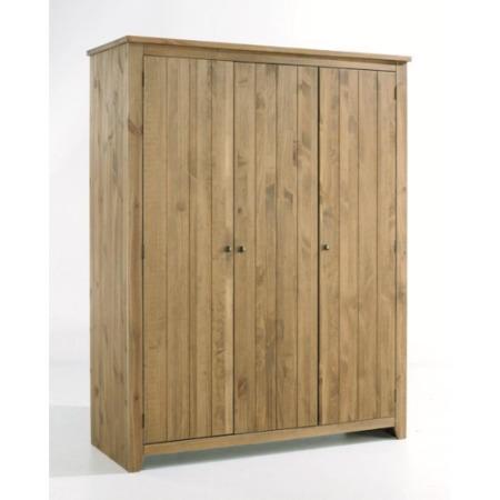 Grade A1 Lpd Havana Pine 3 Door Wardrobe Furniture123