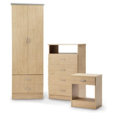 LPD Vermont Oak 3 Piece Bedroom Set