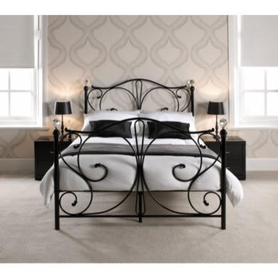 LPD Florence Bed Frame in Black - double