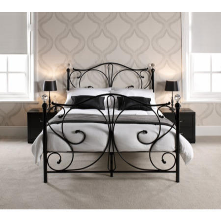 LPD Florence Bed Frame in Black - kingsize