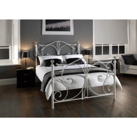 LPD Florence Bed Frame in White - double