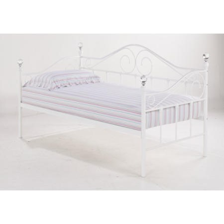 lpd florence single day bed in white