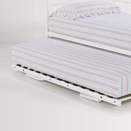 LPD Florence Pop Up Trundle Bed in White