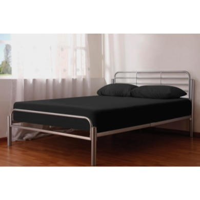 LPD Alpha Silver Metal Bed Frame - double