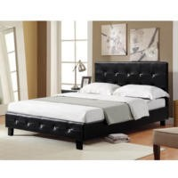 LPD Diamante Double Bed in Black