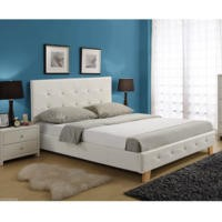 LPD Diamante Double Bed in White