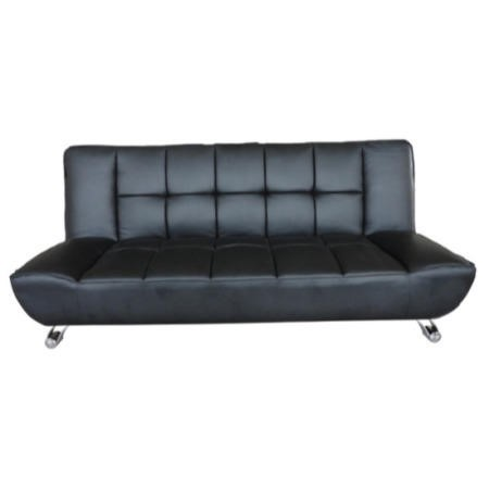 LPD Vogue Leather Sofa Bed in Black