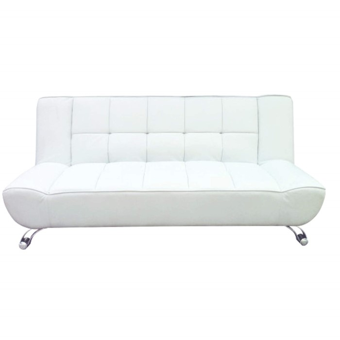 White Leather Sectional Sofa Bed: LPD Vogue Leather Sofa Bed In White