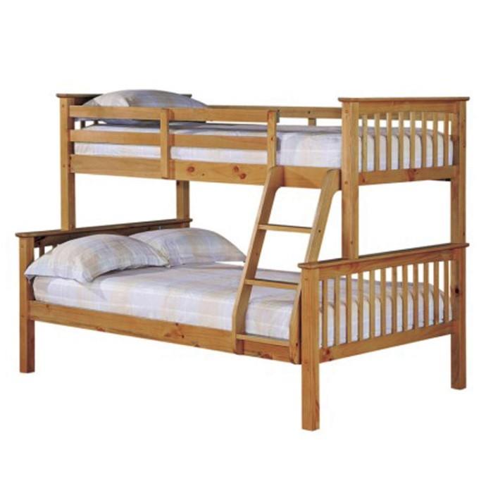 Lpd Otto Pine Trio Bunk Bed Furniture123
