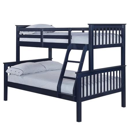 Lpd Otto Trio Bunk Bed In Navy Blue Furniture123