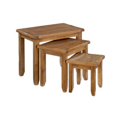 LPD Dorset Oak Nest of 3 Tables