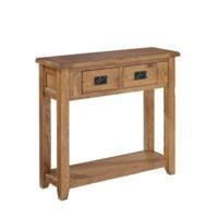 LPD Dorset Solid Oak 2 Drawer Console Table