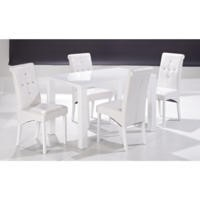 GRADE A1 - LPD Monroe Medium Dining Table in White
