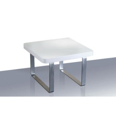 LPD Accent White High Gloss End Table
