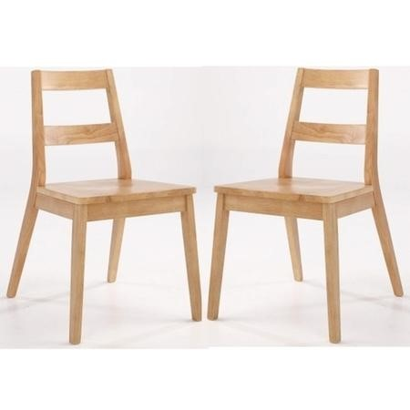 LPD Malmo Pair of White Oak Dining Chairs