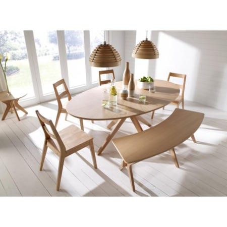 LPD Malmo White Oak Dining Table