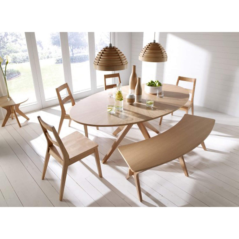 LPD Malmo White Oak Dining Table