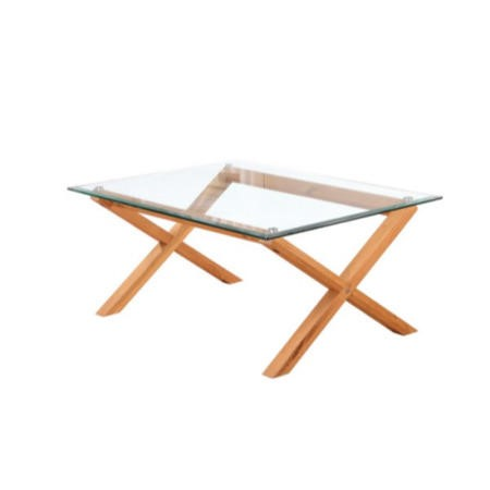 LPD Cadiz Solid Oak and Glass Coffee Table