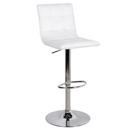 LPD Vigo Leather White Bar Stool