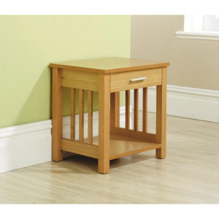 Mountrose Ashford Solid Wood 1 Drawer Side Table With Ash