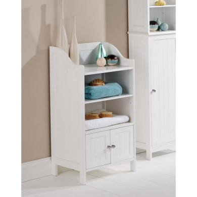 Mountrose Colonial 3 Shelf Bathroom Cupboard in White