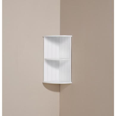 Mountrose Colonial Corner Wall Shelf in White