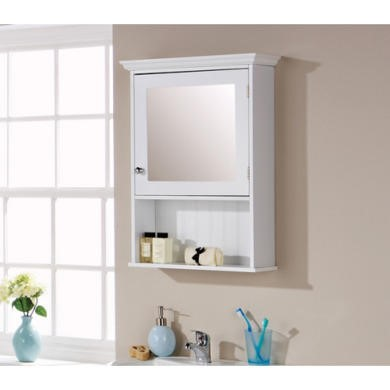 Mountrose Colonial Mirrored Wall Cabinet in White