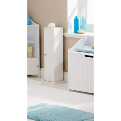 Mountrose Colonial Toilet Roll Cupboard in White