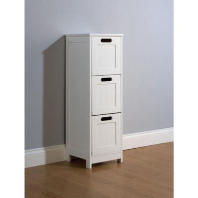 Mountrose Colonial 3 Drawer Bathroom Chest in White