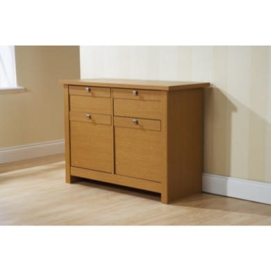 GRADE A2 - Mountrose Fuse 2 Door 2 Drawer Sideboard in Oak