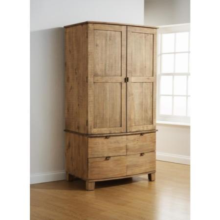 Mountrose Olivia Solid Pine 2 Door 4 Drawer Curved