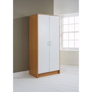 Mountrose Oslo 2 Door Wardrobe in Beech and White