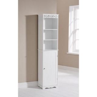 mountrose scroll tall bathroom cabinet in white furniture123
