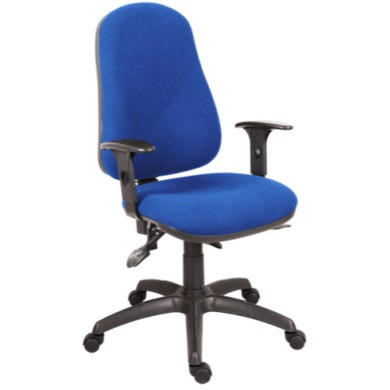 Teknik Office Ergo Comfort Blue Executive Operator Chair with Arms