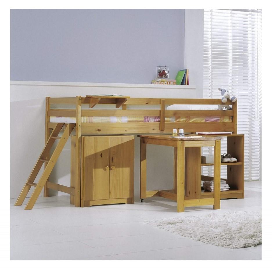 Verona Design Mid-Sleeper Cabin Bed Bedroom Set in Antique ...