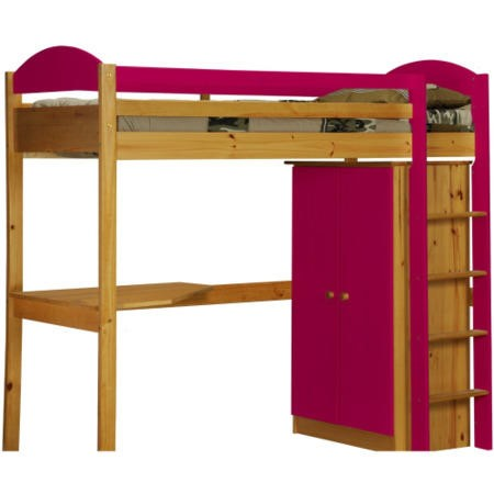 Verona Design Maximus High Sleeper Bedroom Set In Antique Pine And