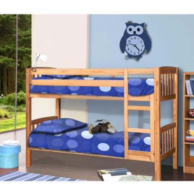Verona Design America Solid Pine Short Single Bunk Bed - 90x160cm
